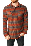 Oneill Men's Glacier Stripe Snap Button Down Shirt