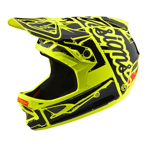 Troy Lee Designs Men's D3 Fiberlite Factory Bike Helmet