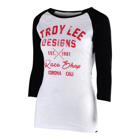 Troy Lee Designs Women's Vintage Race Shop Long Sleeve Graphic T-Shirt