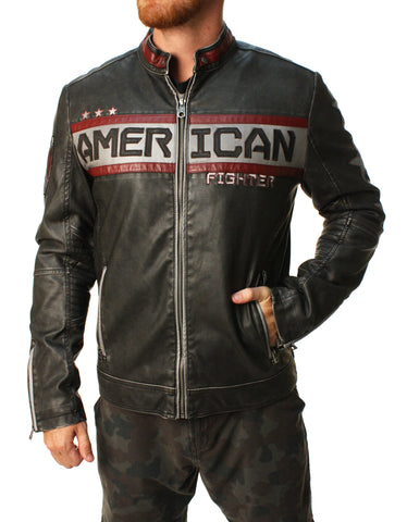 American Fighter Men's Escape Moto Full Zip Jacket