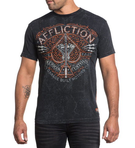 Affliction Men's V Spade Graphic T-Shirt