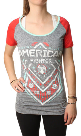 American Fighter Women's North Dakota Graphic T-Shirt