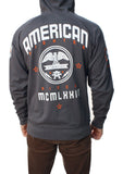 American Fighter Men's Benjamin Raglan Zip Up Hoodie