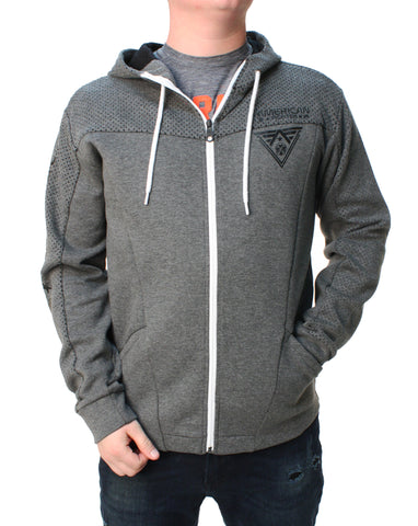 American Fighter Men's Balanced Zip Up Hoodie