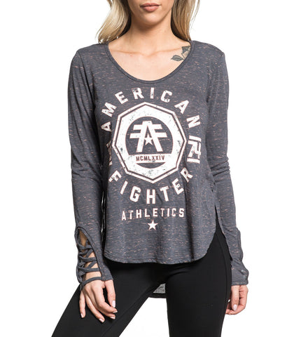 American Fighter Women's Edgewater Long Sleeve Top