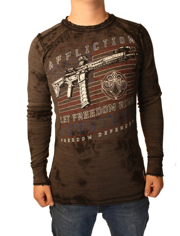 Affliction Men's Full Metal Jacket Thermal Shirt