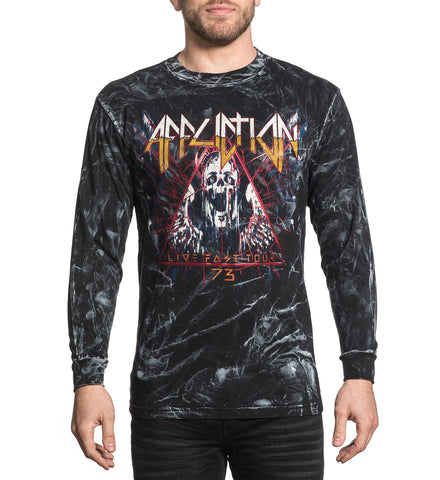 Affliction Men's Dysmorphia Long Sleeve Graphic T-Shirt