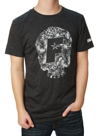 Famous Stars and Straps Men's Skull Boom Premium Graphic T-Shirt