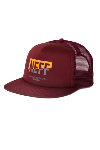 Neff Headwear Men's Corpo Split Trucker Snapback Hat