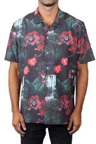 Neff Headwear Men's Vintage Daily Pool Sider Button Down Shirt