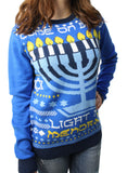 Ugly Christmas Sweater Plus Size Women's Light My Menorah Sweatshirt