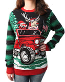 Ugly Christmas Sweater Plus Size Women's How We Roll LED Light Up Sweatshirt