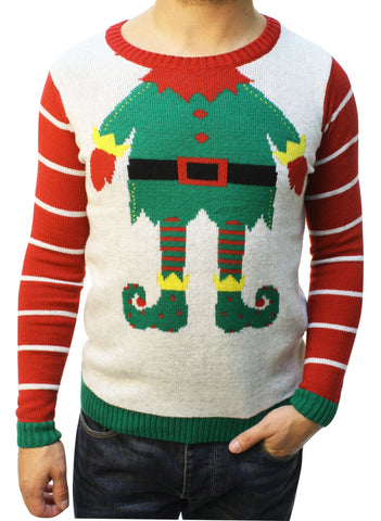 "Ugly Christmas Sweater Teen Boy's Funny ""Just Elfing Around"" Sweater"