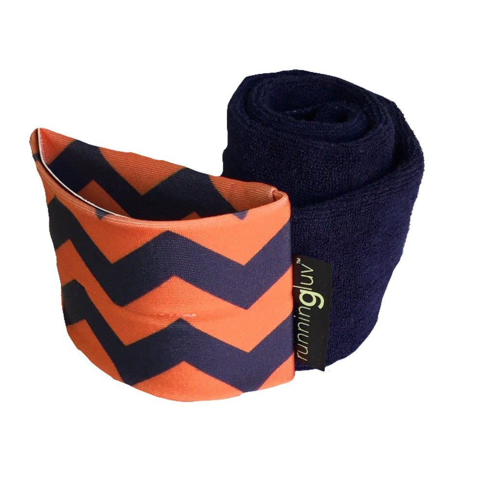Navy LUVs Navy and Orange Chevron (Wholesale)