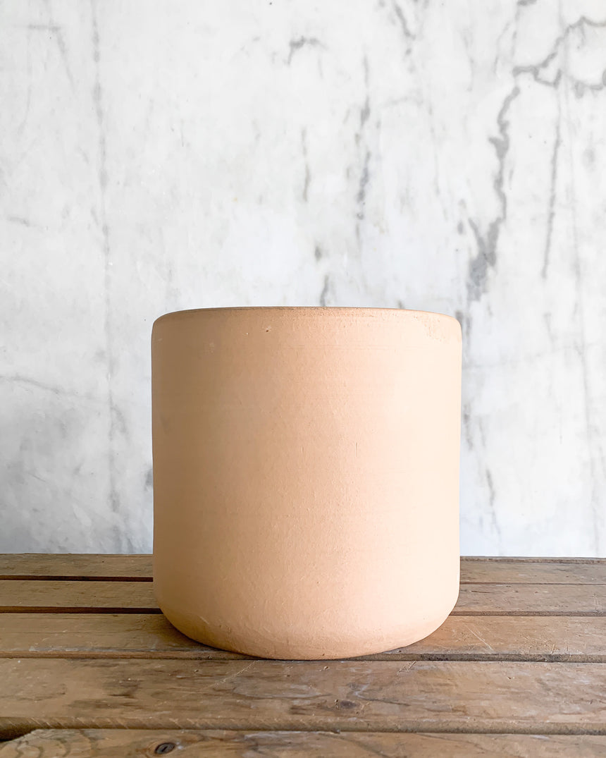 Locally Made Ceramic Planter - White