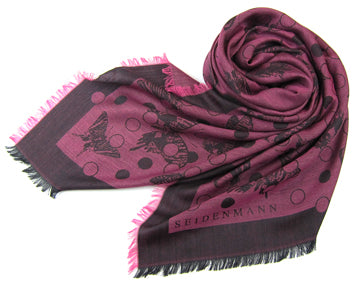 Butterfly Wool Jacquard Shawl - shop idPearl