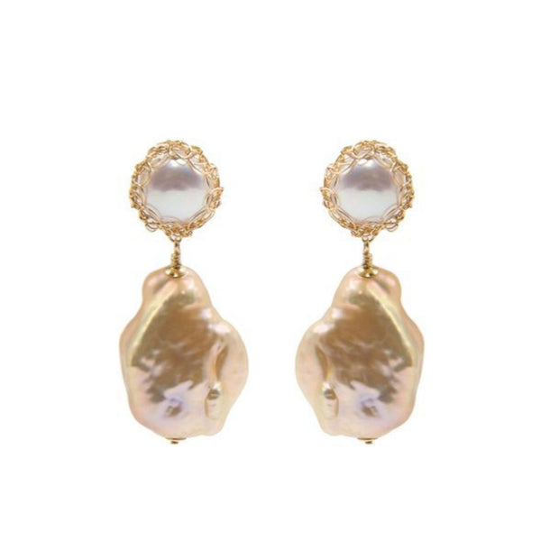 Gemma Baroque Pearl Drop Earrings - shop idPearl