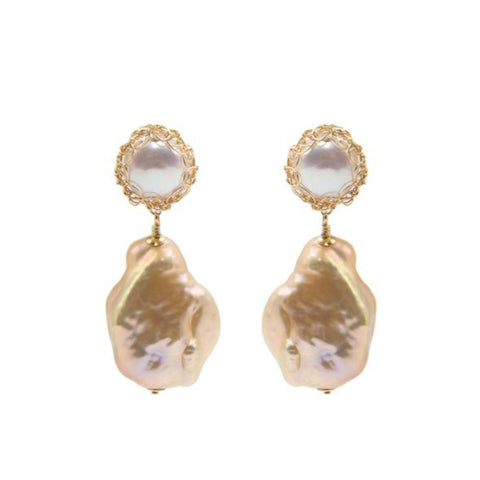 Gemma Baroque Pearl Drop Earrings