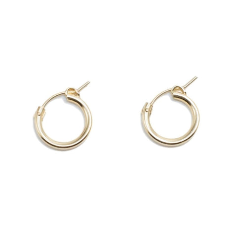 Recycled Gold Filled Hoop Earrings - Shopidpearl