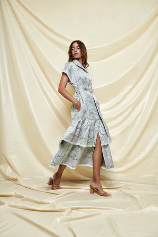 Jacquard Shirt Dress - shop idPearl