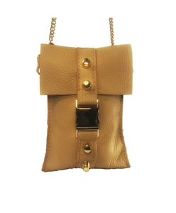 Tan Leather Mini Bag - shop idPearl