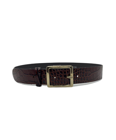 Thick Croc Embossed Belt - idPearl