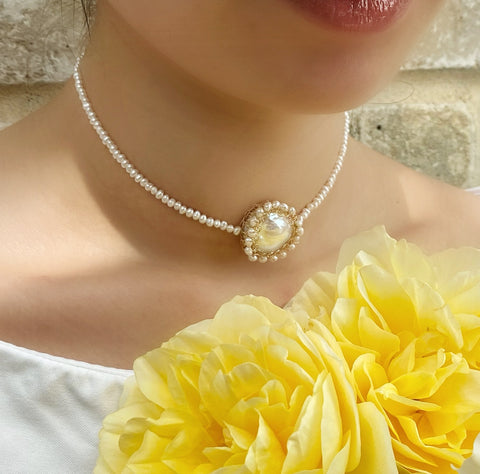 Polka 14k Gold Filled Baroque Pearl Choker - Shopidpearl
