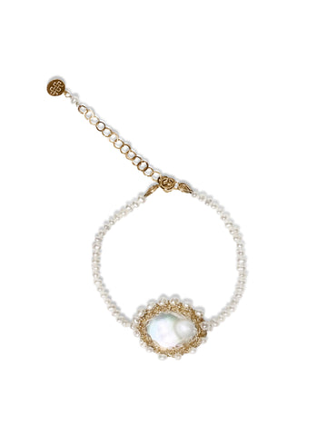 Polka 14k Gold Filled Baroque Pearl Bracelet - Shopidpearl