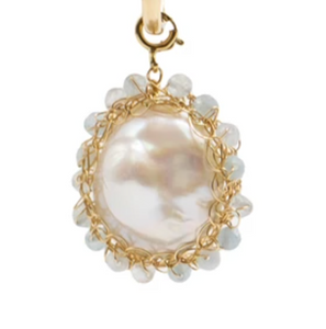 Polka Aquamarine Gold Filled Charm - shop idPearl