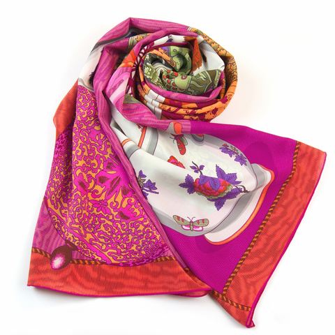 Fine China Silk Scarf - shop idPearl