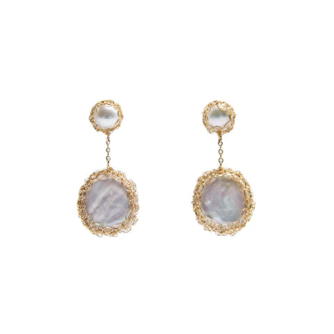 Angie Gold Filled Baroque Pearl Drop Earrings - idPearl