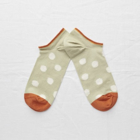 Sage Polka Dot Ankle Socks - shop idPearl