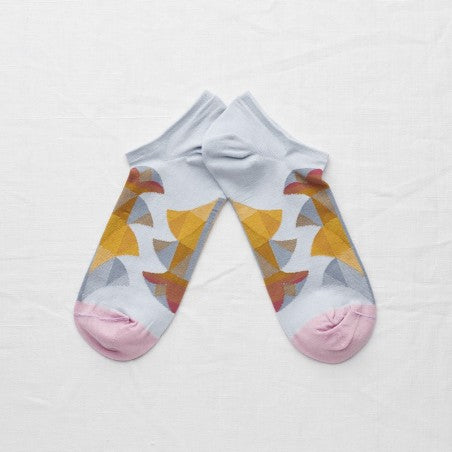 Sky Palm Ankle Socks - shop idPearl