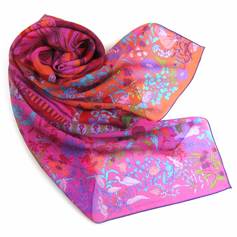 Bumble Bee Meadow Crepe Georgette Grand Foulard - Shopidpearl