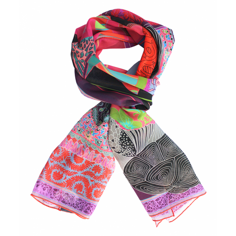 Elephantasia Silk Scarf - shop idPearl
