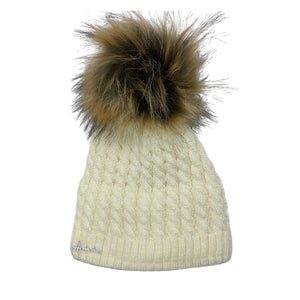 Louise Braided Knit Pom Beanie