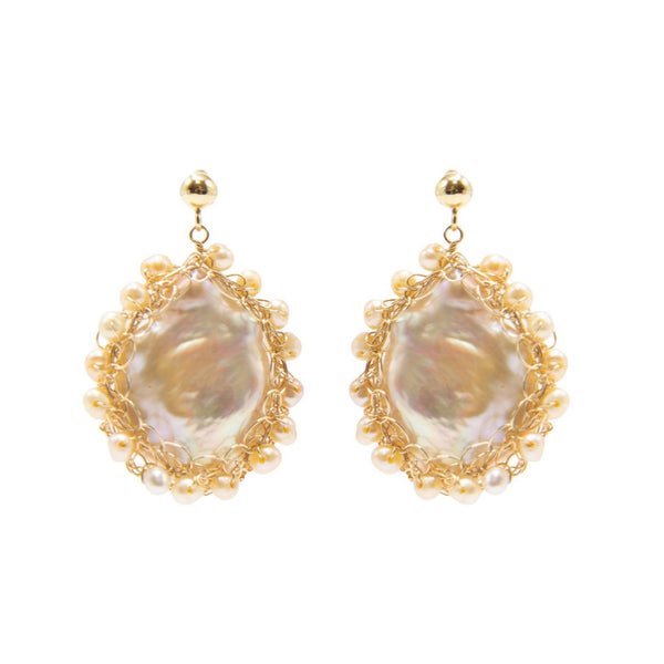 Polka Rainbow Baroque Pearl Earrings - shop idPearl