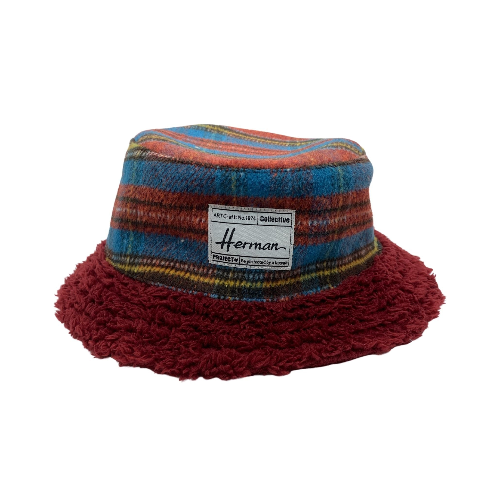 Plaid Sherpa Bucket Hat - Shopidpearl