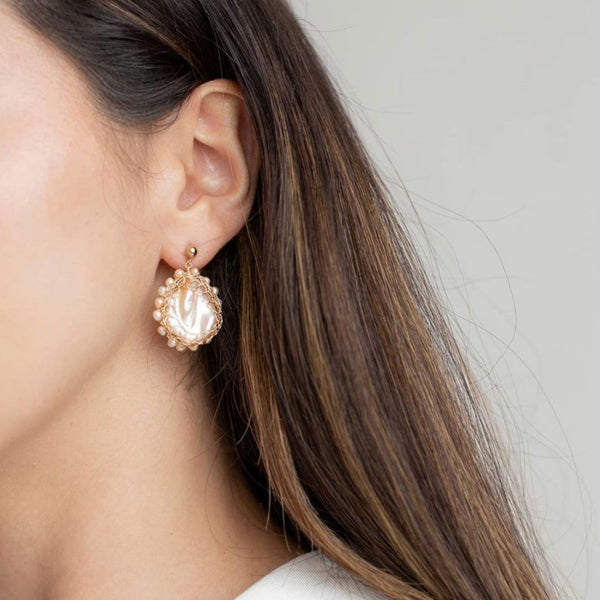 Polka Baroque Pearl Earrings - idPearl