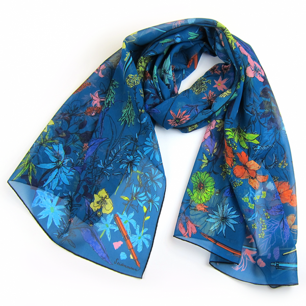 Poppy's Diaries Silk Scarf - Shopidpearl