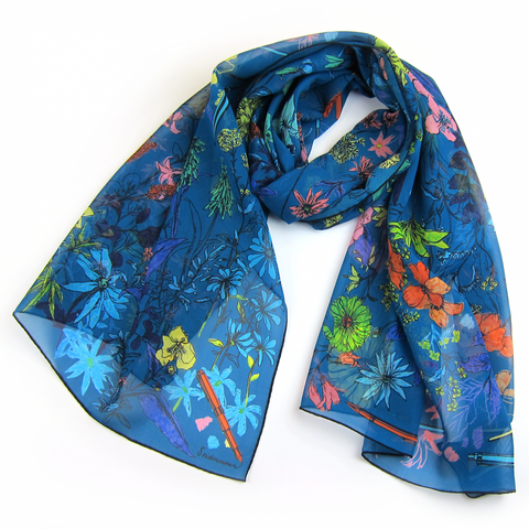 Poppy's Diaries Silk Scarf - shop idPearl