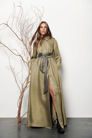 Long Gathered Shirt Dress - Shopidpearl