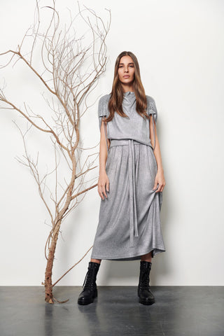 Asymmetrical Foil‐Print Jersey Dress - Shopidpearl