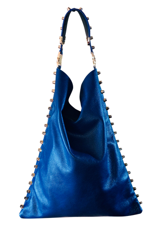 Cobalt Blue Hobo Handbag - Shopidpearl