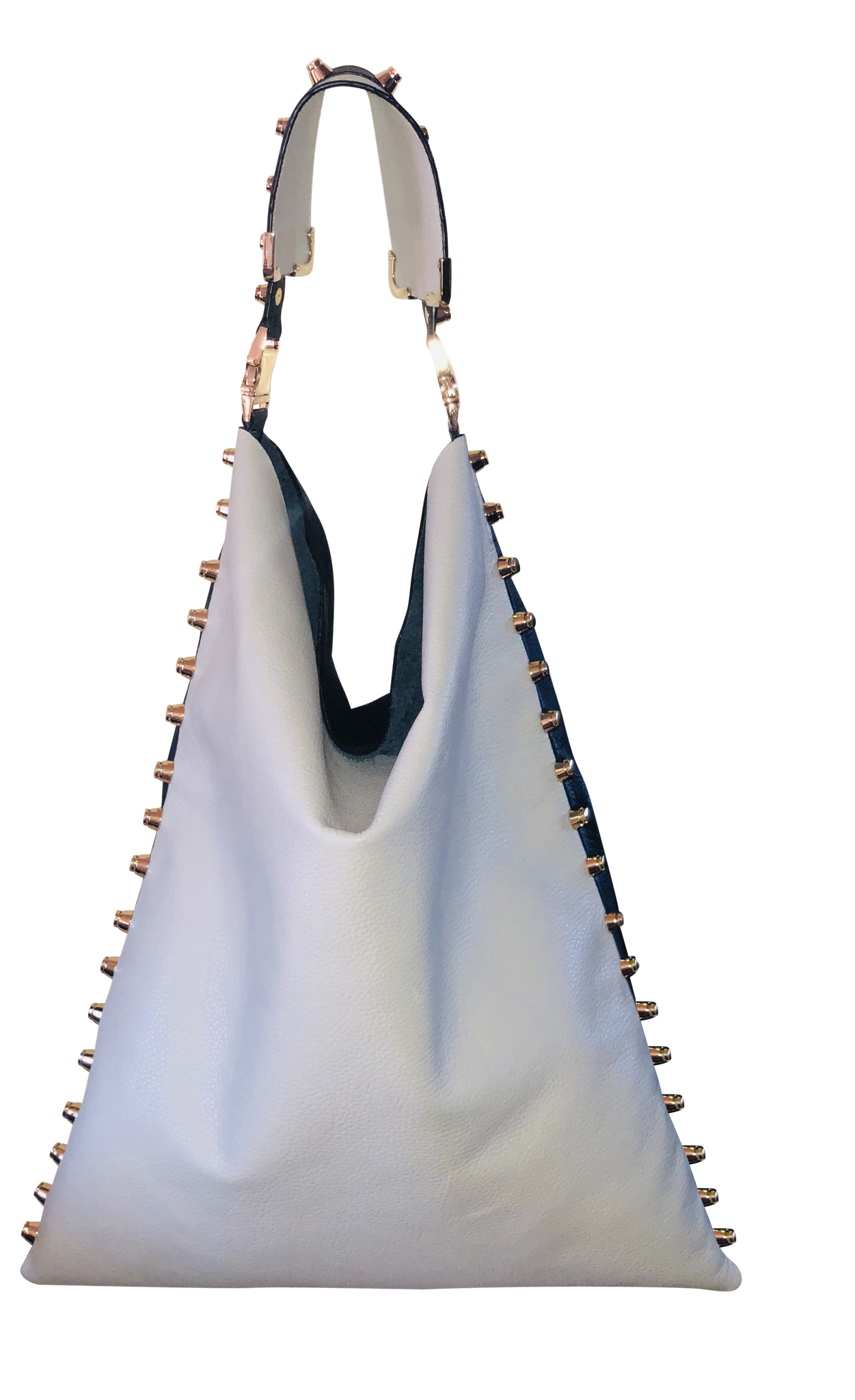 Black and White Leather Hobo - Shopidpearl