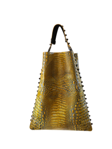 Crocodile Embossed Leather Hobo Bag - Shopidpearl