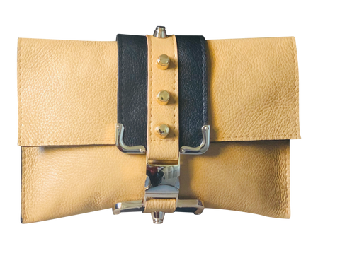 Two Tone Tan Crossbody Bag - Shopidpearl