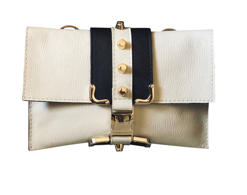 Two Tone White Crossbody Bag - Shopidpearl