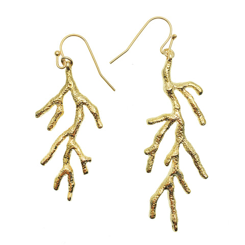 Gold Coral Earrings - Shopidpearl