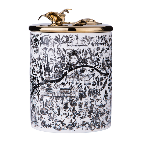Chiang Mai, Thailand Porcelain Candle - Shopidpearl